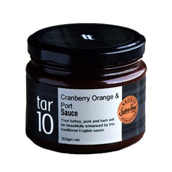 Cranberry Orange Port Sauce Tar