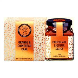 Orange & Cointreau Cake & Chocolate Liqueur Sauce Gift Pack Ogilvie & Co Hunter Valley Hampers