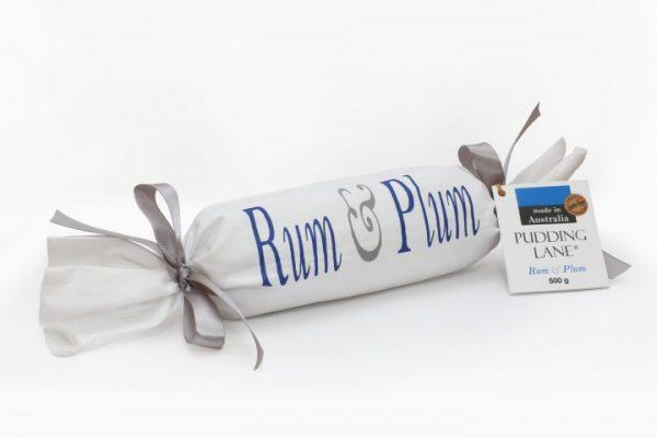 Rum and Kakadu Plum Christmas pudding log by pudding lane